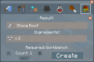 Stone Roof - Crafting Screen