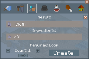 Cloth - Creation Screen
