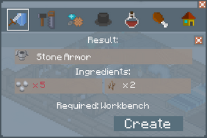 Stone Armor - Creation Screen