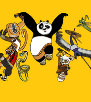 Po, Shifu, Tigress, Viper, Mantis, Monkey and Crane