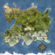 The Continent Map of Arcis