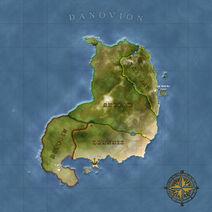 The Continent Map of Danovion