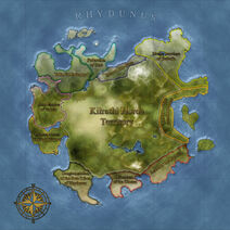 The Continent Map of Rhydunus