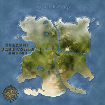 The Continent Map of Malesor