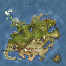 The Continent Map of Kystanthur