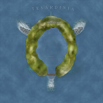 The Continent Map of Tesardinia