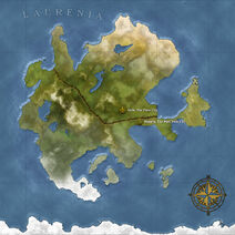 The Continent Map of Laurenia