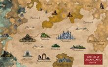 Landkarte FENDOYAH Epos Welt Amahgand