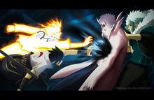 Naruto manga 641 naruto and sasuke vs obito by chekoaguilar-d6g4m8p