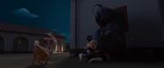 Lupe hiding Ferdinand