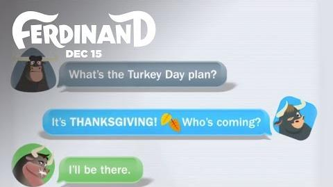 Ferdinand Turkey Day Group Chat 20th Century FOX