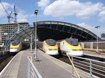 Trenes de Eurostar en Waterloo International-9545
