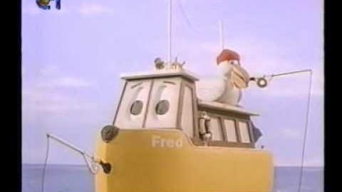 Fred's Fishing Trip clip in Portuguese