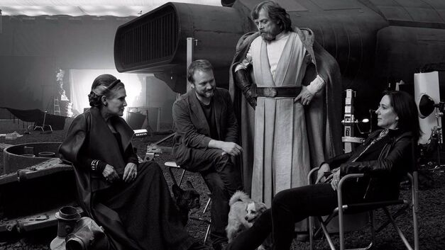 last jedi star wars rian johnson mark hamill carrie fisher