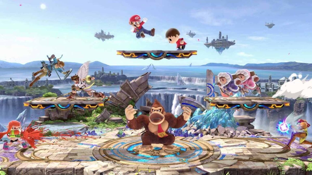 Super Smash Bros Ultimate eight players multiplayer battle