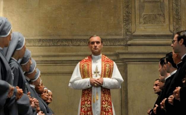 Pius XIII played by Jude Law on The Young Pope