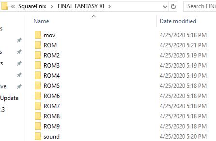 FFXI folder