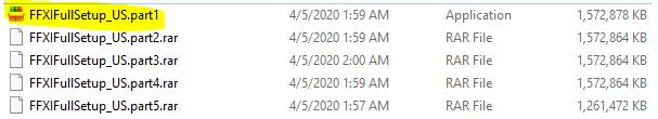 FFXI setup files
