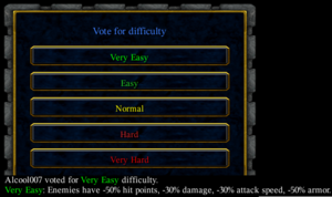 Vote for difficulty