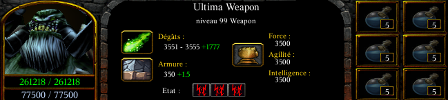 Ultima weapon lv99