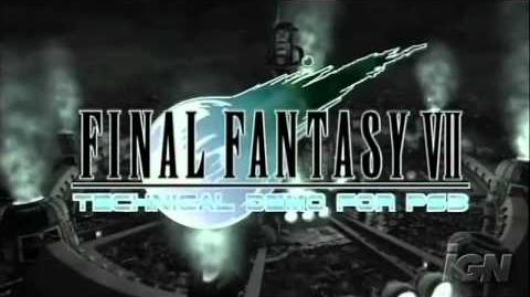 Final Fantasy VII HD Tech Demo PS3-on