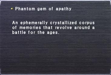 Phantom gem of apathy