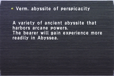 Verm abyssite perspicacity
