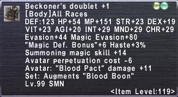 Beckoner's doublet +1