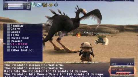 FFXI NM Saga 165 Picolaton vs BST Full Battle