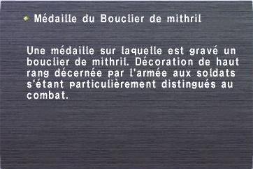 Médaille du Bouclier de mithril