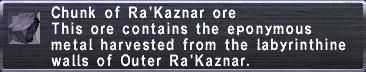 Ra'Kaznar Ore