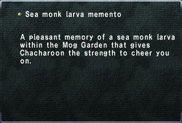 Sea monk larva memento