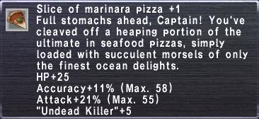 Slice of marinara pizza +1