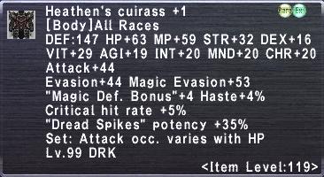 Heathen's Cuirass +1