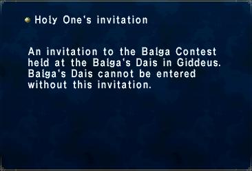 Holy Ones Invitation