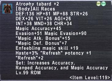 Atrophy Tabard +2