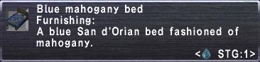 Blue Mahogany Bed