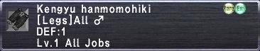 Kengyu Hanmomohiki