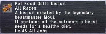 Pet food delta