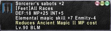 Sorcerer's Sabots +2 Augmented