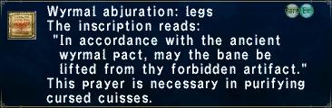 Wyrmal Abjuration Legs