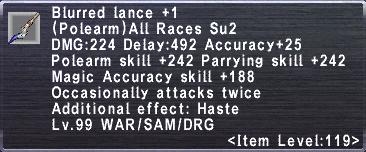 Blurred Lance +1