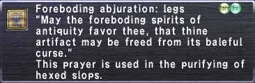 Foreboding Abjuration Legs