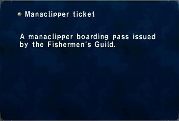 Manaclipper ticket