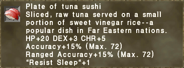 Plate of tuna sushi