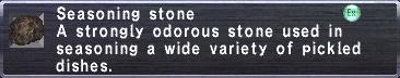 Seasoning stone