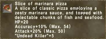 Slice of marinara pizza