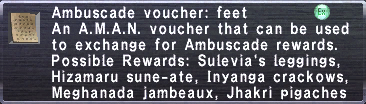 Ambuscade Voucher-Feet