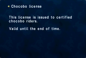 Chocobo License