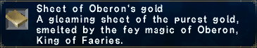 Sheet of Oberon's gold
